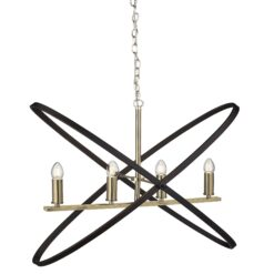 Searchlight 8244-4BZ- Hoopla 4lt Multi Arm Pendant, Chrome Polished