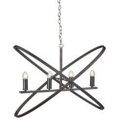 Searchlight 8244-4PW- Hoopla 4lt Multi Arm Pendant, Copper