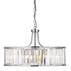 Searchlight 8295-5CC- Victoria 5lt Multi Arm Pendant, Chrome Brushed