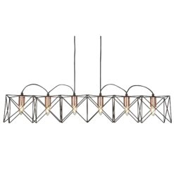 Searchlight 8416-6BK- Anthea 6lt Bar Pendant, Chrome Brushed