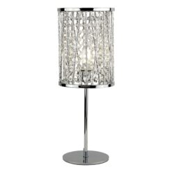 Searchlight 8931CC- Elise 1lt Table Lamps, Chrome Polished