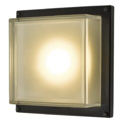 Dar AQU2122- Aquilina 1lt Wall Light, Matt Black, White Frosted Glass