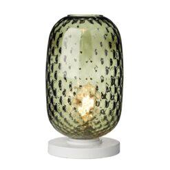 David Hunt Lighting VID4324- Vidro 1lt Table Lamps, White|Green