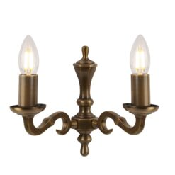 Searchlight 1072-2NG- Malaga 2lt Wall Light, Antique Brass