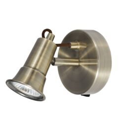 Searchlight 1221AB- Eros 1lt Wall Light, Antique Brass
