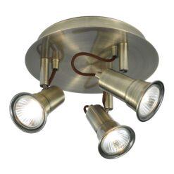 Searchlight 1223AB- Eros 3lt Spotlight, Antique Brass