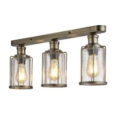 Searchlight 1263-3AB- Pipes 3lt Bar Pendant, Antique Brass