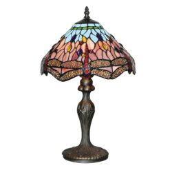Searchlight 1287- Dragonfly 1lt Table Lamps, Antique Brass