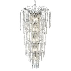 Searchlight 1313-13CC- Waterfall 13lt Single Pendant, Chrome