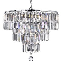 Searchlight 1375-5CC- Empire 5lt Multi Arm Pendant, Chrome