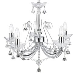 Searchlight 1395-5CC- Lafayette 5lt Multi Arm Pendant, Chrome