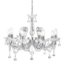 Searchlight 1398-8CC- Lafayette 8lt Multi Arm Pendant, Chrome
