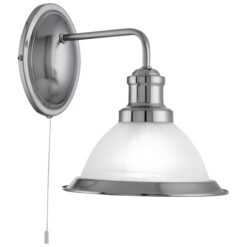 Searchlight 1481SS- Bistro 1lt Wall Light, Satin silver