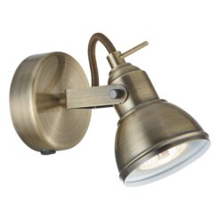 Searchlight 1541AB- Focus 1lt Wall Light, Antique Brass