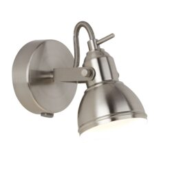 Searchlight 1541SS- Focus 1lt Wall Light, Satin Silver