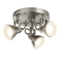 Searchlight 1543SS- Focus 3lt Flush, Satin Silver