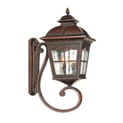 Searchlight 1571BR- Pompeii 1lt Outdoor, Brown