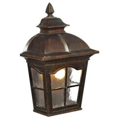 Searchlight 1576BR- Pompeii 1lt Outdoor, Brown