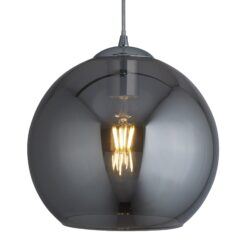 Searchlight 1621SM- Balls 1lt Single Pendant, Smoked /Chrome