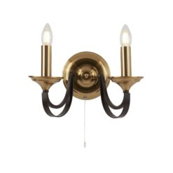 Searchlight 1842-2BZ- Belfry 2lt Wall Light, Dark Bronze/Brown