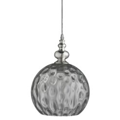 Searchlight 2120SM- Indiana 1lt Single Pendant, Chrome/smoked