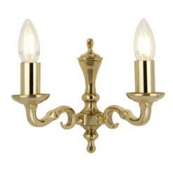 Searchlight 2172-2NG- Seville 2lt Wall Light, Polished brass