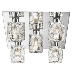 Searchlight 2275-5-LED- Ice Cube 5lt Flush, chrome/clear