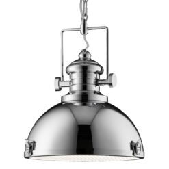 Searchlight 2297CC- Industrial Pendants 1lt Single Pendant, Chrome