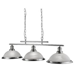Searchlight 2683-3SS- Bistro 3lt Bar Pendant, Satin Silver