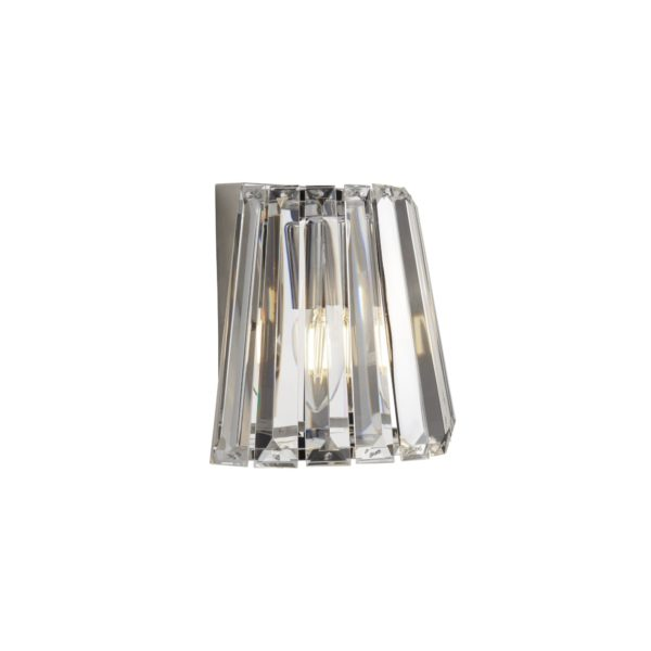 Searchlight 2891-1CC- Tiara 1lt Wall Light, Chrome/Clear