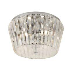 Searchlight 2893-3CC- Tiara 3lt Flush, Chrome/Clear