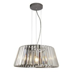 Searchlight 2895-5CC- Tiara 5lt Single Pendant, Chrome/Clear