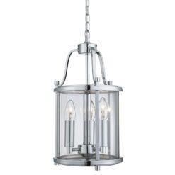 Searchlight 3063-3CC- Victorian Lanterns 3lt Multi Arm Pendant, Chrome/Clear