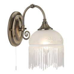 Searchlight 3151-1AC- Virginia 1lt Wall Light, Antique brass