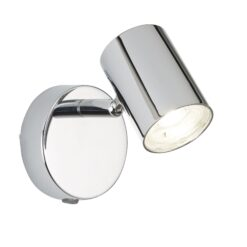 Searchlight 3171CC- Rollo 1lt Wall Light, Chrome/Clear