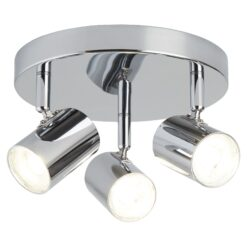 Searchlight 3173CC- Rollo 3lt Wall Light, Chrome/Clear