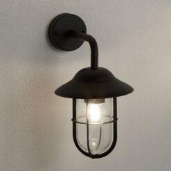 Searchlight 3291BK- Genoa 1lt Wall Light, Matt black/clear