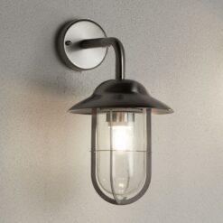Searchlight 3291SS- Genoa 1lt Wall Light, Satin silver/clear