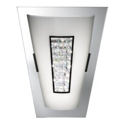 Searchlight 3773-IP- Wall 16lt Wall Light, Mirror/white /chrome/black/silver.