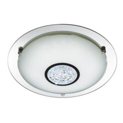 Searchlight 3883-41- Bathroom 36lt Flush, Chrome/White/ mirror/clear