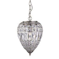 Searchlight 3991SS- Pineapple 1lt Single Pendant, Satin Silver