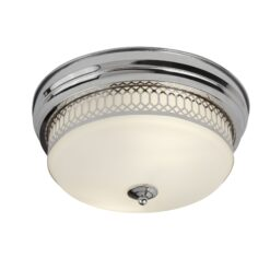 Searchlight 4132-2CC- Edinburgh 2lt Flush, Chrome/White