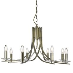 Searchlight 4168-8AB- Ascona 8lt Multi Arm Pendant, Antique Brass