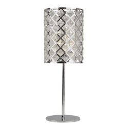 Searchlight 4212CC- Tennesse 1lt Table Lamps, Chrome/Clear