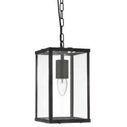 Searchlight 4241BK- Lanterns 1lt Single Pendant, Black