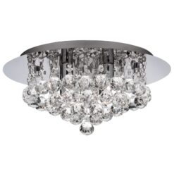 Searchlight 4404-4CC-LED- Bathroom 4lt Single Pendant, Chrome
