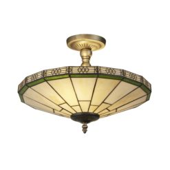 Searchlight 4417-17- New York 2lt Semi Flush, Bronze