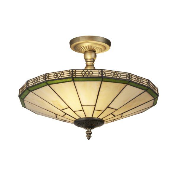 Searchlight 4417-17- New York 2lt Semi Flush, Bronze