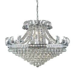 Searchlight 5048-8CC- Bloomsbury 8lt Multi Arm Pendant, Chrome/Clear