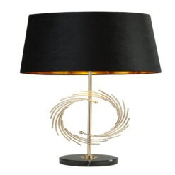 Searchlight 5310GO- Roman 1lt Table Lamps, Gold/Black